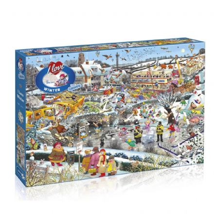 I Love Winter by Mike Jupp 1000 Piece Gibsons Jigsaw